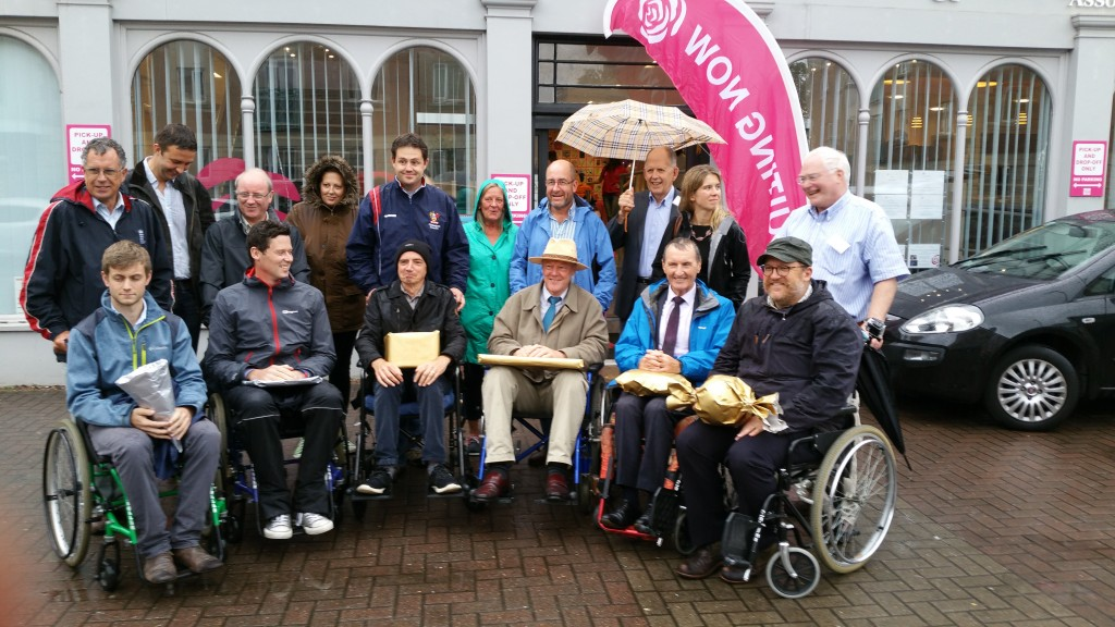 The Wheelchair Challenge candidates brave the rain!